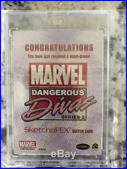Marvel Dangerous Divas Phoenix Color Artist Sketch Card SketchaFex 1/1