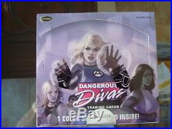 Marvel Dangerous Divas SERIES 1 Factory Sealed Box With Colored Sketch