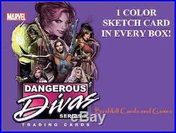 Marvel Dangerous Divas Series 2 Factory Sealed CASE -12 Boxes 12 Sketches