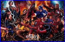 Marvel Greatest Battles 2 Puzzle Artist Proof Sketch Card AP Mick and Matt Glebe