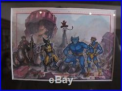 Marvel Greatest Battles Meghan Hetrick sketch card of the X Men boys