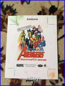 Marvel Greatest Heroes Artist Proof Scarlet Witch Sketch Card AP Axebone