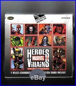 Marvel Heroes & Villains sealed Hobby box SKETCH card inside