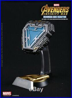 Marvel Iron Man Tony Arc Reactor MK50 11 Herz LED-Licht Modell Figur Spielzeug