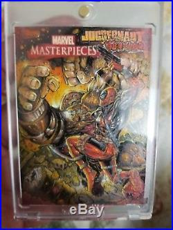 Marvel Masterpiece AP Nar Deadpool vs Juggernaut Sketch Card