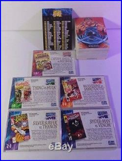 Marvel Masterpieces 1992 COMPLETE 100 Card Set & Complete 5 Card Subset NM/MT