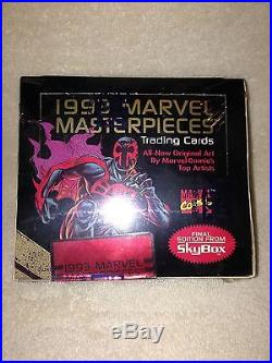 Marvel Masterpieces 1992 Series 1 Trading Cards Box Factory sealed Joe Jusko