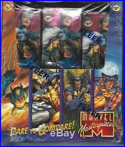 Marvel Masterpieces 1995 Factory Sealed Box Rack Pack (24 ct)