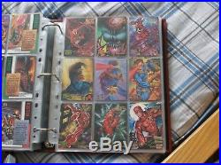 Marvel Masterpieces 1995 Master Set- Base, Emotion, Mirage, Canvas, Holoflash