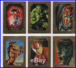 Marvel Masterpieces 1996 100 card base set plus Golden Gallery Card Set of 6