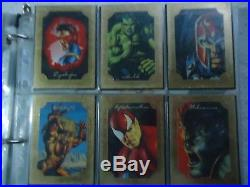 Marvel Masterpieces 1996- Set Complete 6 Gallery Cards Marvel Masterpieces 96