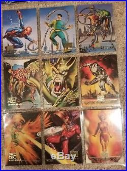 Marvel Masterpieces 1996 complete 100 base set. NM+ VERY RARE! BORIS, JULIE BELL