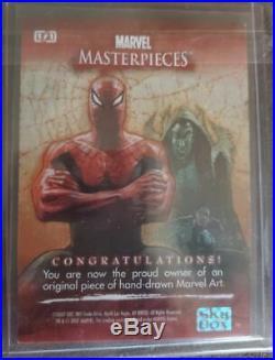 Marvel Masterpieces 2007 AP SKETCH CARD SHADOWCAT by DELIZ