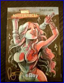 Marvel Masterpieces 2007 SKETCH CARD DAZZLER by RENAE DELIZ X-Men