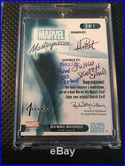 Marvel Masterpieces 2016 Black Cat Sketch Card By Mitch Ballard