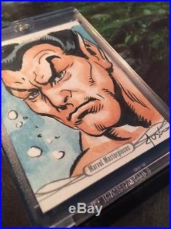 Marvel Masterpieces 2016 Namor Sketch Card By Joe Jusko