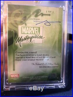 Marvel Masterpieces 2018 SKETCH CARD Psylocke Basio