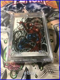 Marvel Masterpieces 2018 SKETCH CARD Spider-Man/Venom Melike Acar