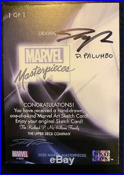 Marvel Masterpieces 2020 Actual Dave Palumbo Sketch Card Autograph 1 of 1