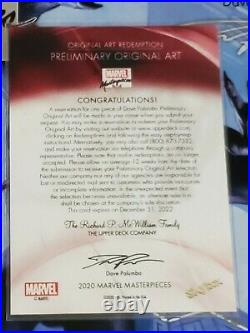 Marvel Masterpieces 2020 Redemption Card Preliminary Art
