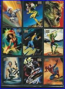 Marvel Masterpieces Fleer Skybox 1996 complete 100 card base set + gold cards