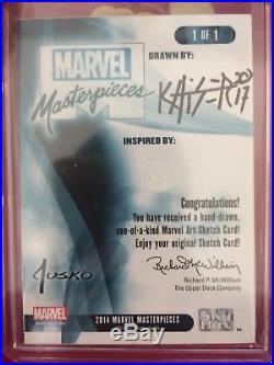 Marvel Masterpieces Jusko Deadpool Carnage Sketch Card By Bryan Tillman Kaiser