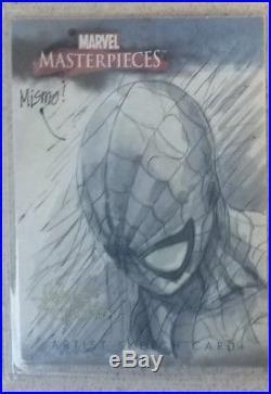 Marvel Masterpieces Spider Man Artist Sketch Card Ultra Rare Artist