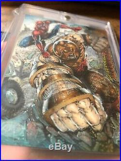 Marvel NAR! Sketch Card Premier 2012 Spider-Man Vs Juggernaut EPIC