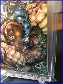 Marvel NAR! Sketch Card Venom Vs Juggernaut EPIC