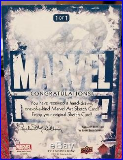 Marvel Now Sketch Card Spider-Man Unmasked by Mick and Matt Glebe