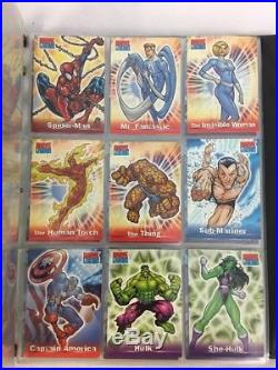 Marvel Overpower Card Game Lot HUGE lot of over 500 Cards in binder RARE