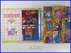 Marvel Overpower Card Game Lot HUGE lot of over 600 Cards in binder. Some Rare