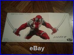 Marvel Premier 2012 1/1 Big Sketch Card Deadpool