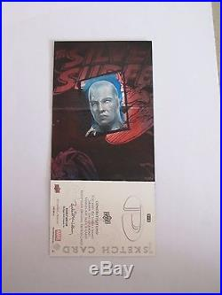 Marvel Premier 2012 Charles Hall sketch card double hinged Silver Surfer Thor