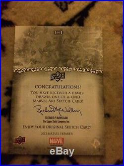 Marvel Premier 2012 Wolverine Vs Hulk Sketch Card AP Tony Perna