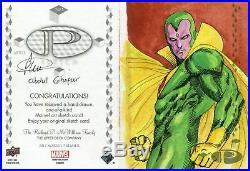 Marvel Premier 2017 2 Piece Panel Sketch Card By Abdul Ghofur Scarlet Witch