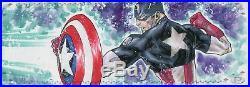 Marvel Premier 2017 4 Piece Panel Sketch Card By Idan Knafo Iron Man Cap Amer