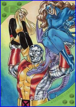 Marvel Premier 2017 5 x 7 Sketch Card By Melissa Uran Kitty Pryde Colossus