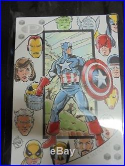Marvel Premier 2017, Mitch Ballard Sketch Card Captain America, Avengers