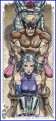 Marvel Premier 2017 Triple Panel Sketch Card by Fabian Quintero