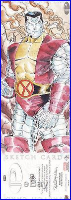 Marvel Premier X-men (wolverine Cyclops Colossus) Sketch Card By Rain Lagunsad