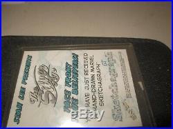Marvel Silver Age 1998 Skybox Sketchagraph Card George Tuska SKETCH THOR card