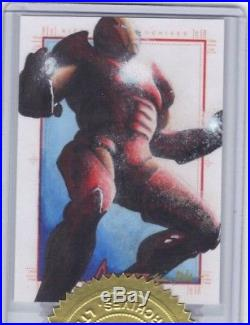 Marvel Sketch Trading Card greatest heroes 6 case indentive by Glebe. Iron man