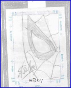 Marvel Stan Lee Silver Age Sketch card Spider-man 1998 skybox signed