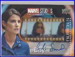 Marvel Studios 1st 10 Years COBIE SMULDERS as MARIA HILL Film Cel Autograph Auto