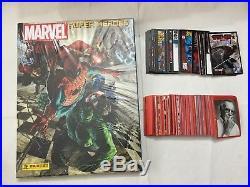 Marvel Super Heroes Album Cartonato + Set Completo + Card + Bustine Panini