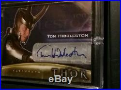 Marvel THOR 2011 Movie TOM HIDDLESTON LOKI Auto/Autograph Card Upper Deck