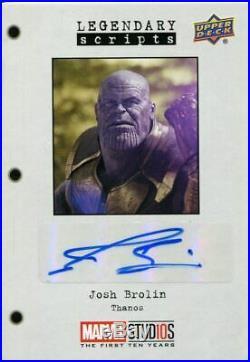 Marvel Ten 10 Years Autograph Card LS-JB Josh Brolin As Thanos