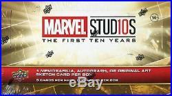 Marvel Ten 10 Years Factory Sealed Hobby Box