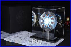 Marvel The Avengers Iron Man Tony DIY Arc Reactor Glass Case Cosplay Toy Gift